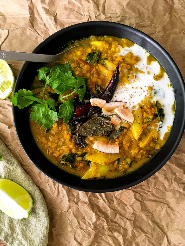 GOLDEN ADAPTOGENIC ASHWAGANDHA LENTIL DAL CURRY WITH TEMPERED SPICES IN GRASS-FED BEEF BONE BROTH-4 | roottoskykitchen.com