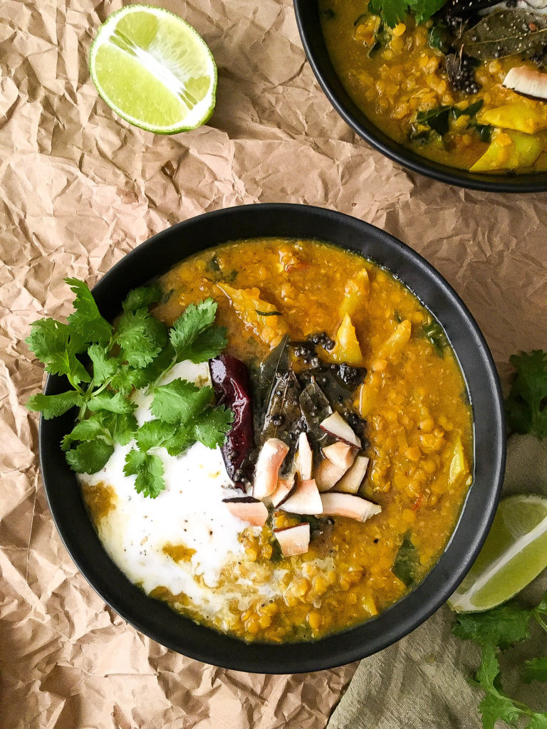 GOLDEN ADAPTOGENIC ASHWAGANDHA LENTIL DAL CURRY WITH TEMPERED SPICES IN GRASS-FED BEEF BONE BROTH-3 | roottoskykitchen.com
