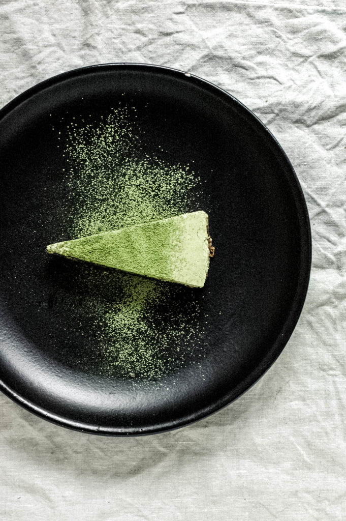 Nootropic No Bake Matcha Coconut Lime Cake with a Reishi Infused Crust 3 | roottoskykitchen.com