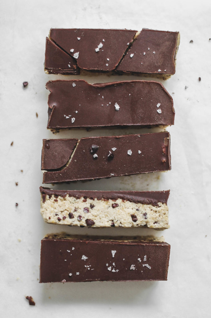 No Bake Chaga Infused Chocolate Cookie Dough Bars 3 | roottoskykichen.com