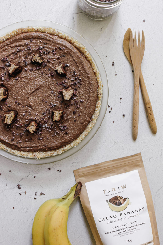 Raw Cacao Banana Pie 55 | -roottoskykitchen.com