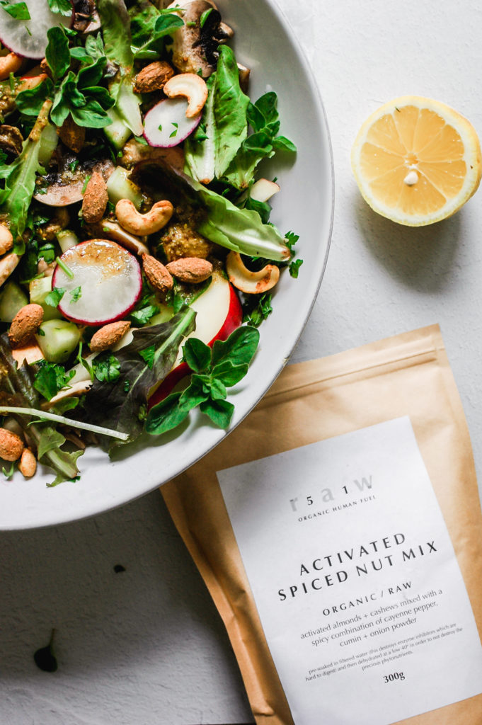 Spring Cleanse Salad with Spiced Activated Nuts and Mustard Flax Seed Dressing 2 | roottoskykitchen.com