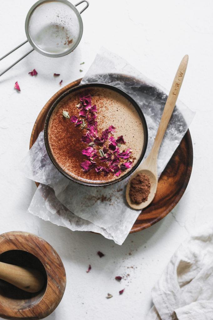 Vanilla Hazelnut Medicinal Mushie Mocha - wild bloom botanicals 2 | roottoskykitchen.com