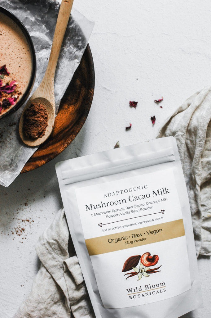 Vanilla Hazelnut Medicinal Mushie Mocha - wild bloom botanicals 3 | roottoskykitchen.com