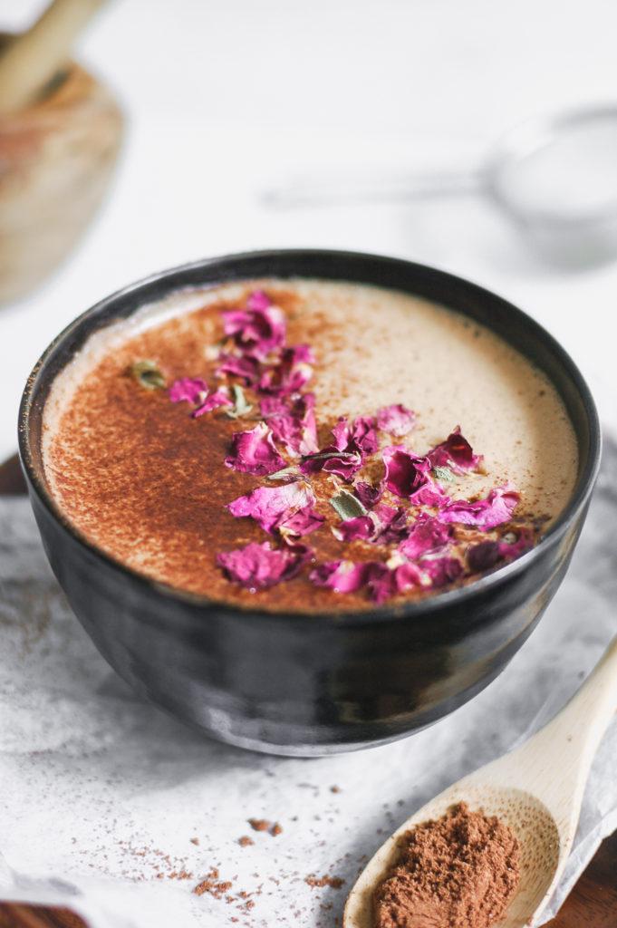 Vanilla Hazelnut Medicinal Mushie Mocha - wild bloom botanicals 4 | roottoskykitchen.com