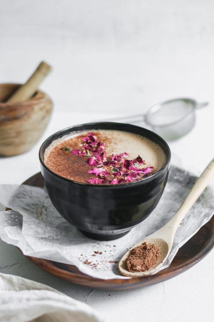Vanilla Hazelnut Medicinal Mushie Mocha - wild bloom botanicals 6 | roottoskykitchen.com