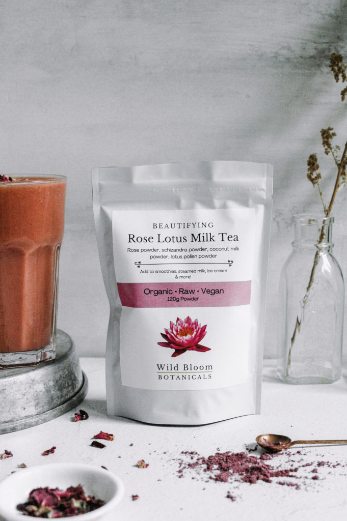 Rose Lotus Berry Smoothie 2 1 roottoskykitchen.com