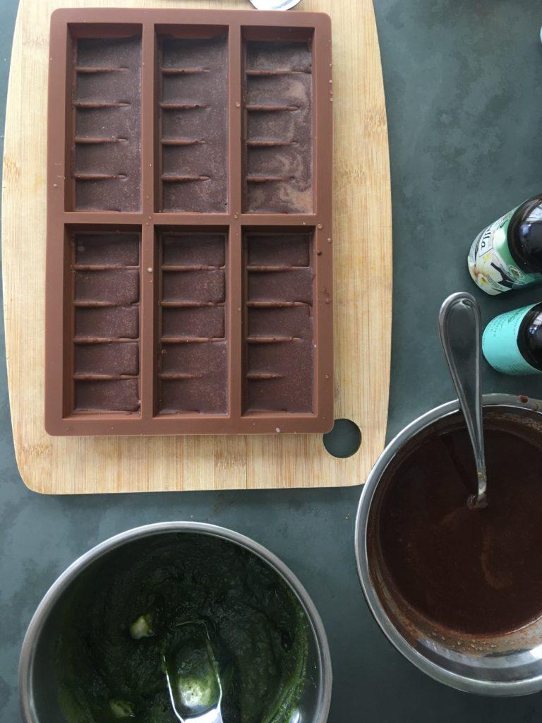 Peppermint matcha chocolate bars process 2 roottoskykitchen