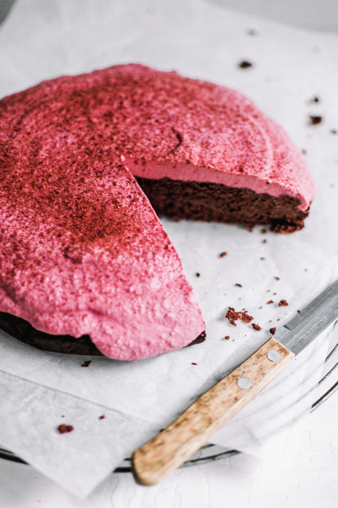 Chocolate Cake with Beetroot Rose Frosting - 4 - roottoskykitchen