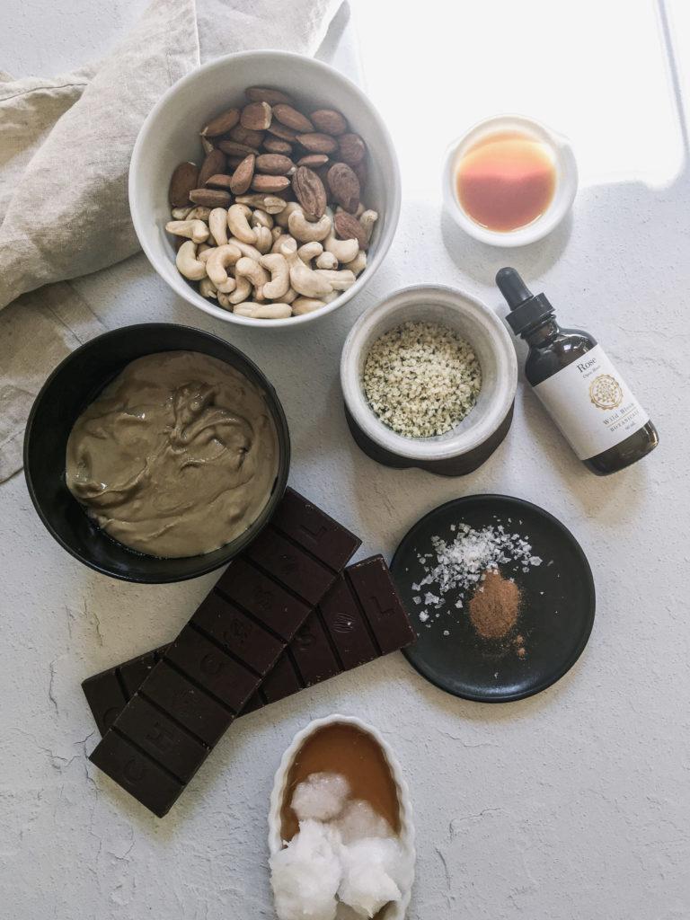 Raw Salted Rose Caramel Slice - process 4